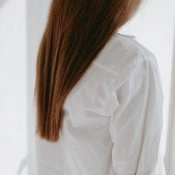 Woman with blonde hair extensions