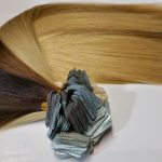 taped hair extensions