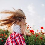 long hair in the wind