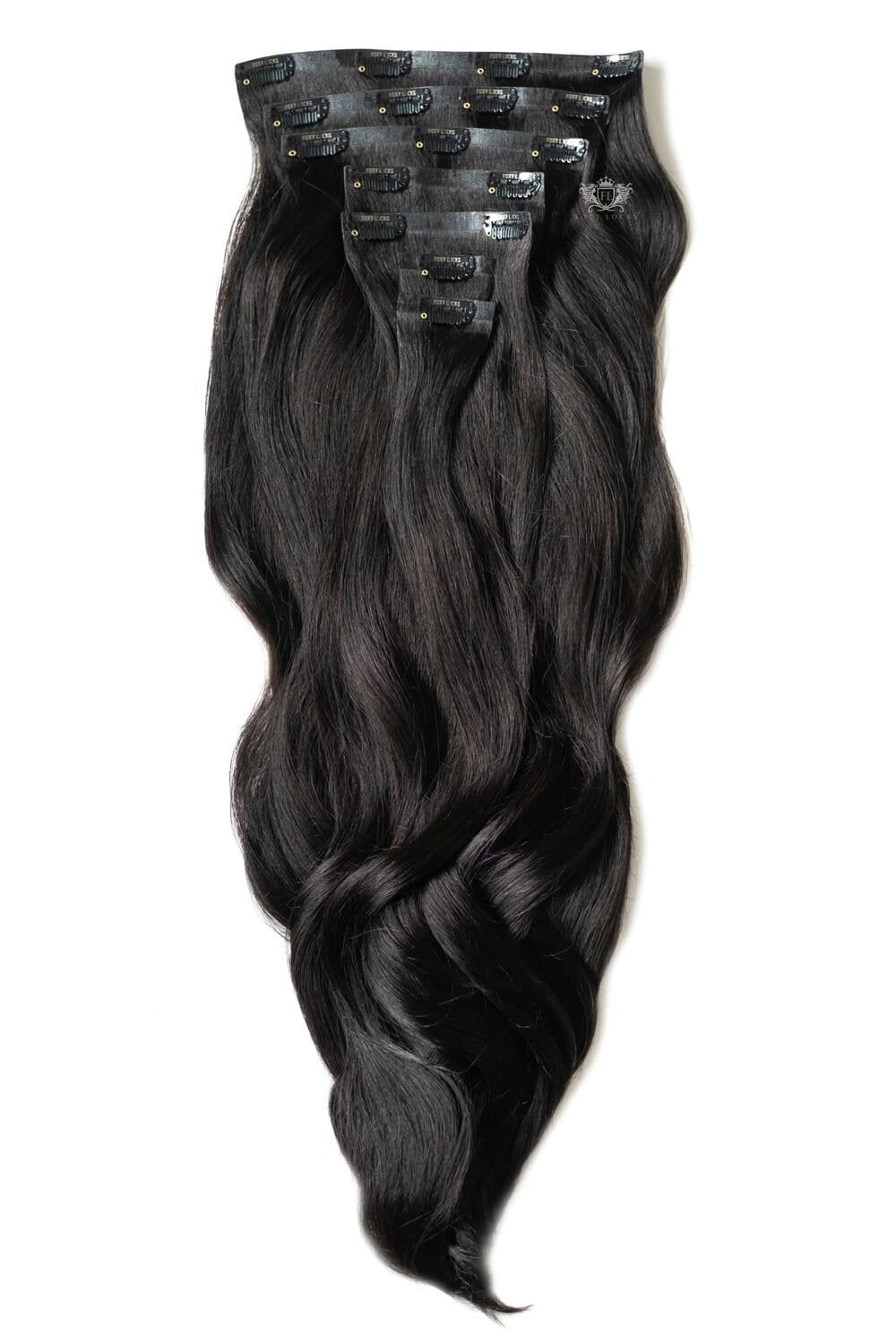 Brown Black Luxurious Seamless 24 Clip In Human Hair Extensions 280g