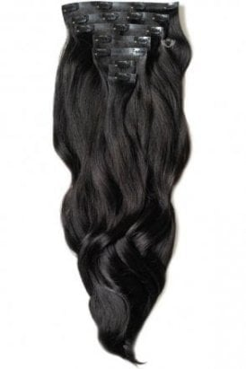 "Brown Black - Luxurious 24"" Seamless Clip In Human Hair Extensions 280g"