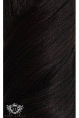"Brown Black - Regular Seamless 18"" Clip In Human Hair Extensions 125g"