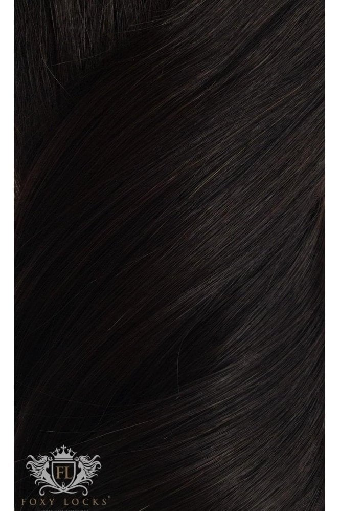"Brown Black - Superior 22"" Seamless Clip In Human Hair Extensions 230g"