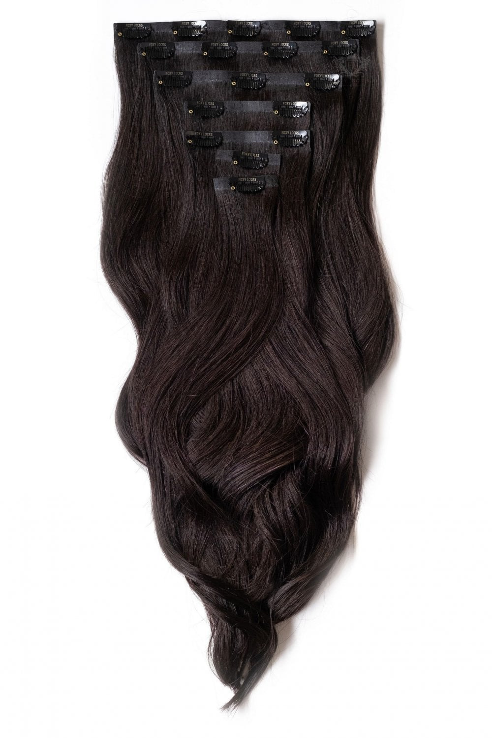 Brown black superior seamless 22 clip in human hair extensions 230g brown black superior 22 seamless clip in human hair extensions pmusecretfo Image collections