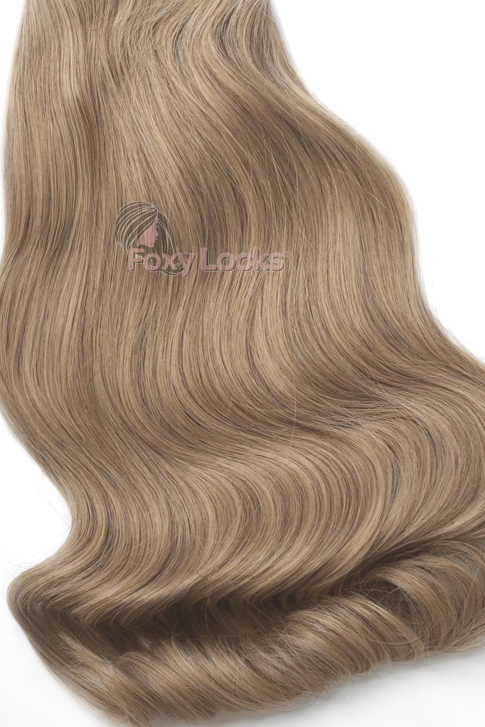 Caramel Blonde 20 Deluxe 20 Clip In Human Hair Extensions 165g