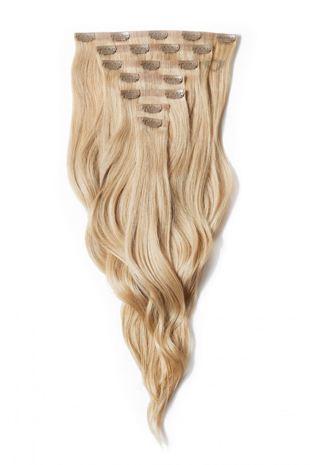 Caramel Seamless Deluxe 20 Clip In Human Hair Extensions 165g