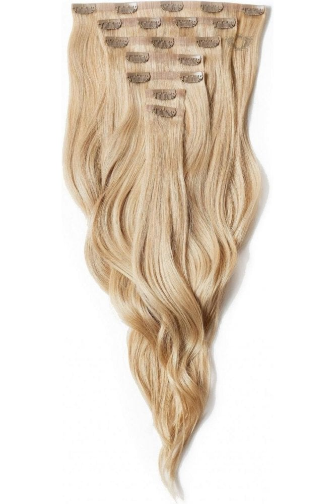 """Caramel - Deluxe 20"""" Seamless Clip In Human Hair Extensions 165g"""