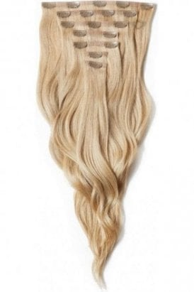 "Caramel - Deluxe 20"" Seamless Clip In Human Hair Extensions 165g"