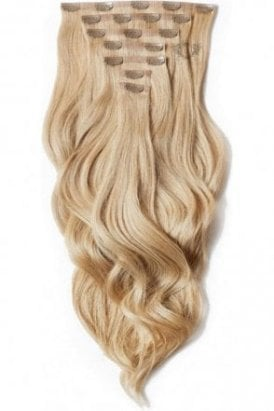 """Caramel - Superior 22"""" Seamless Clip In Human Hair Extensions 230g"""