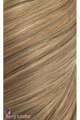 "Caramel - Volumizer 20"" Clip In Human Hair Extensions 50g"