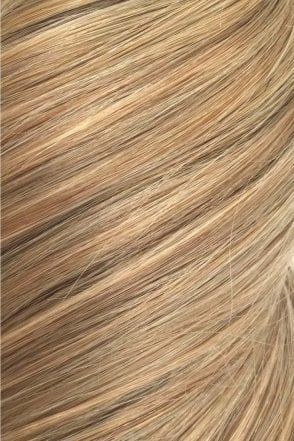 "Caramel - Volumizer 20"" Seamless Clip In Human Hair Extensions 50g"