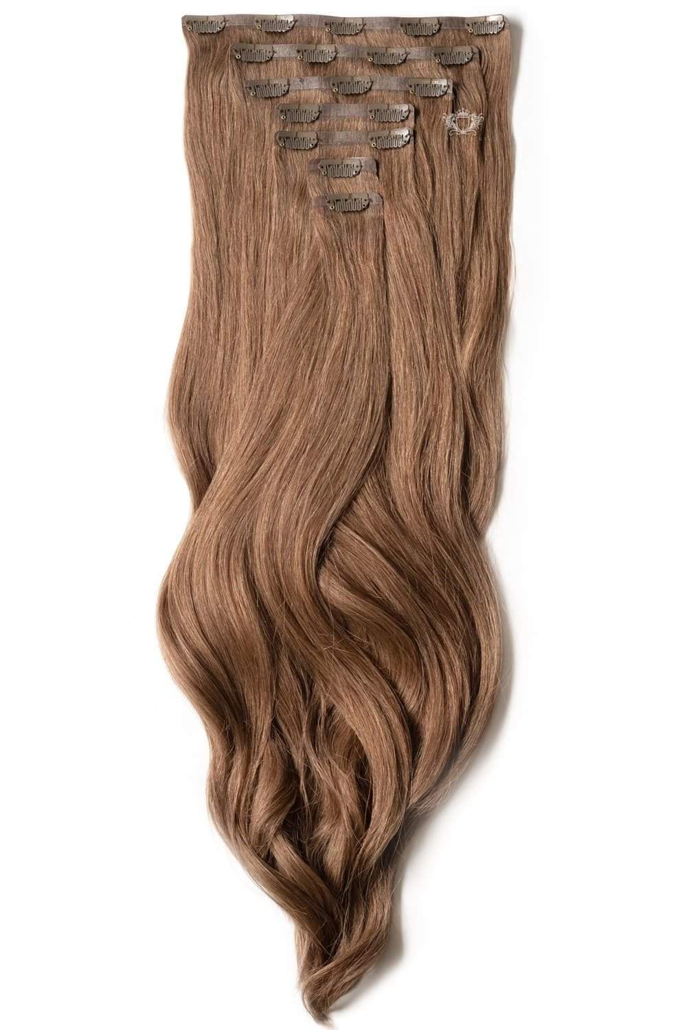 Chestnut Luxurious Seamless 24 Clip In Human Hair Extensions 280g