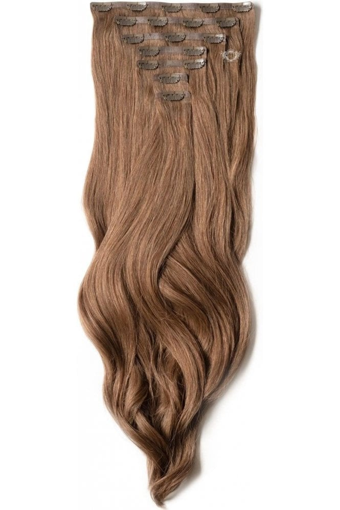 "Chestnut - Luxurious 24"" Seamless Clip In Human Hair Extensions 280g"