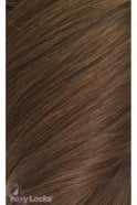 "Chestnut - Regular 18"" Clip In Human Hair Extensions 125g"