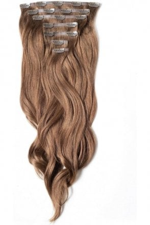 "Chestnut - Regular Seamless 18"" Clip In Human Hair Extensions 125g"