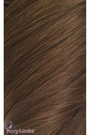 "Chestnut - Volumizer 20"" Clip In Human Hair Extensions 50g"