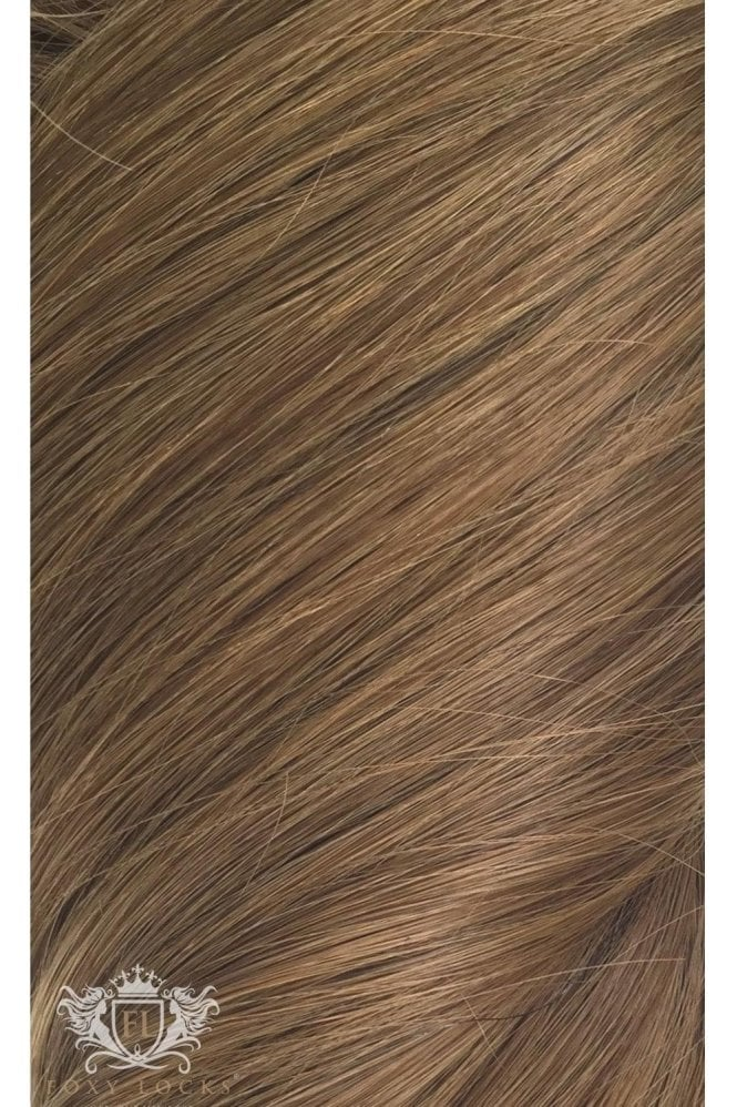 "Chestnut - Volumizer 20"" Seamless Clip In Human Hair Extensions 50g"