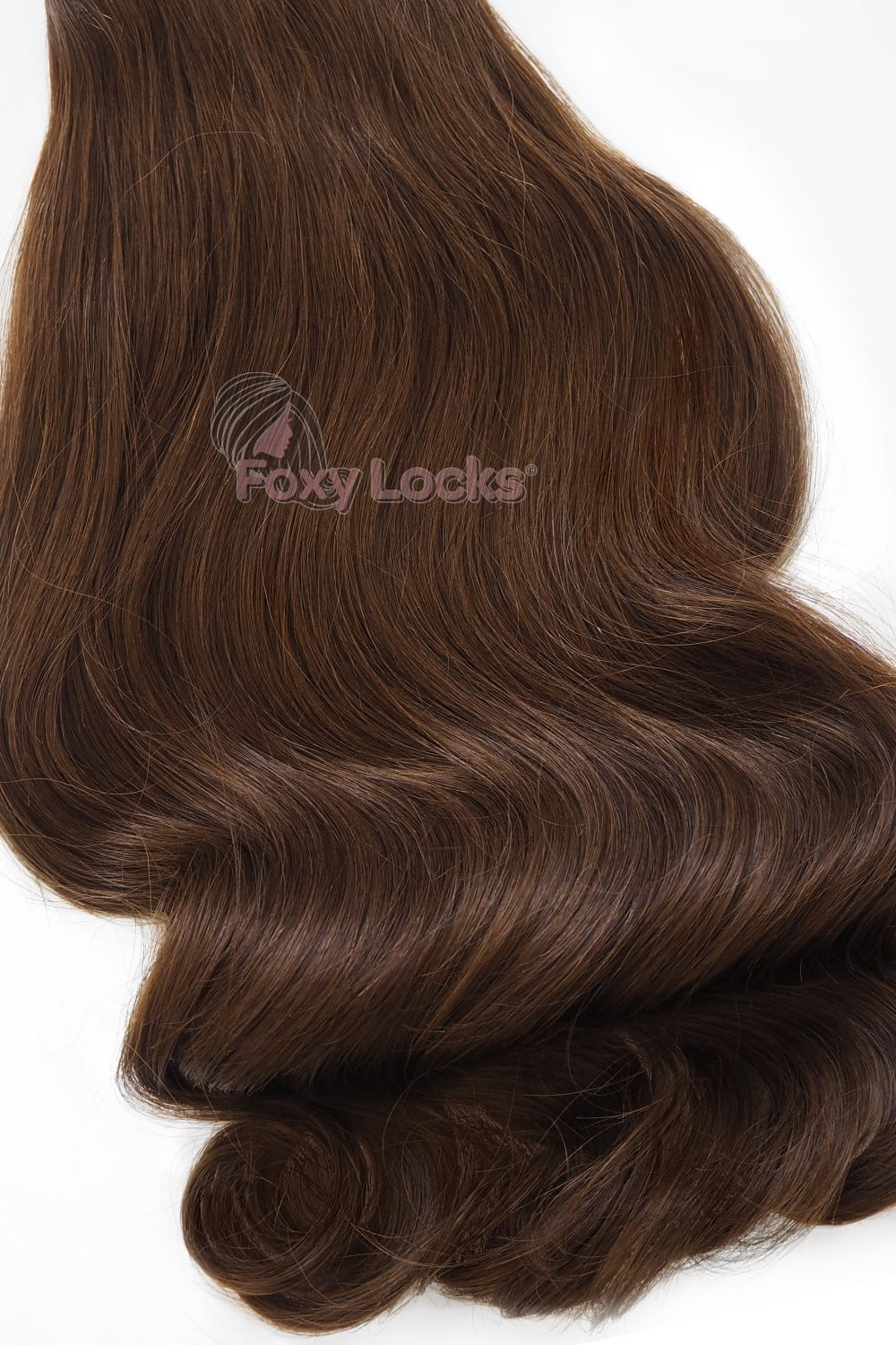 Chocolate Brown 4 Deluxe 20 Clip In Human Hair Extensions 165g