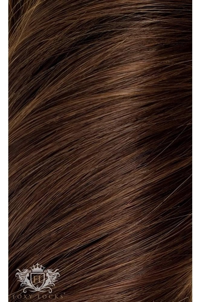 "Chocolate - Deluxe 20"" Seamless Clip In Human Hair Extensions 165g"