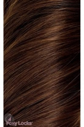 """Chocolate - Regular 18"""" Clip In Human Hair Extensions 125g"""