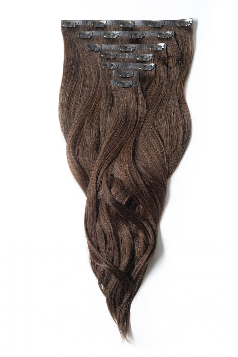 Chocolate Regular Seamless Clip In Human Hair Extensions 125g