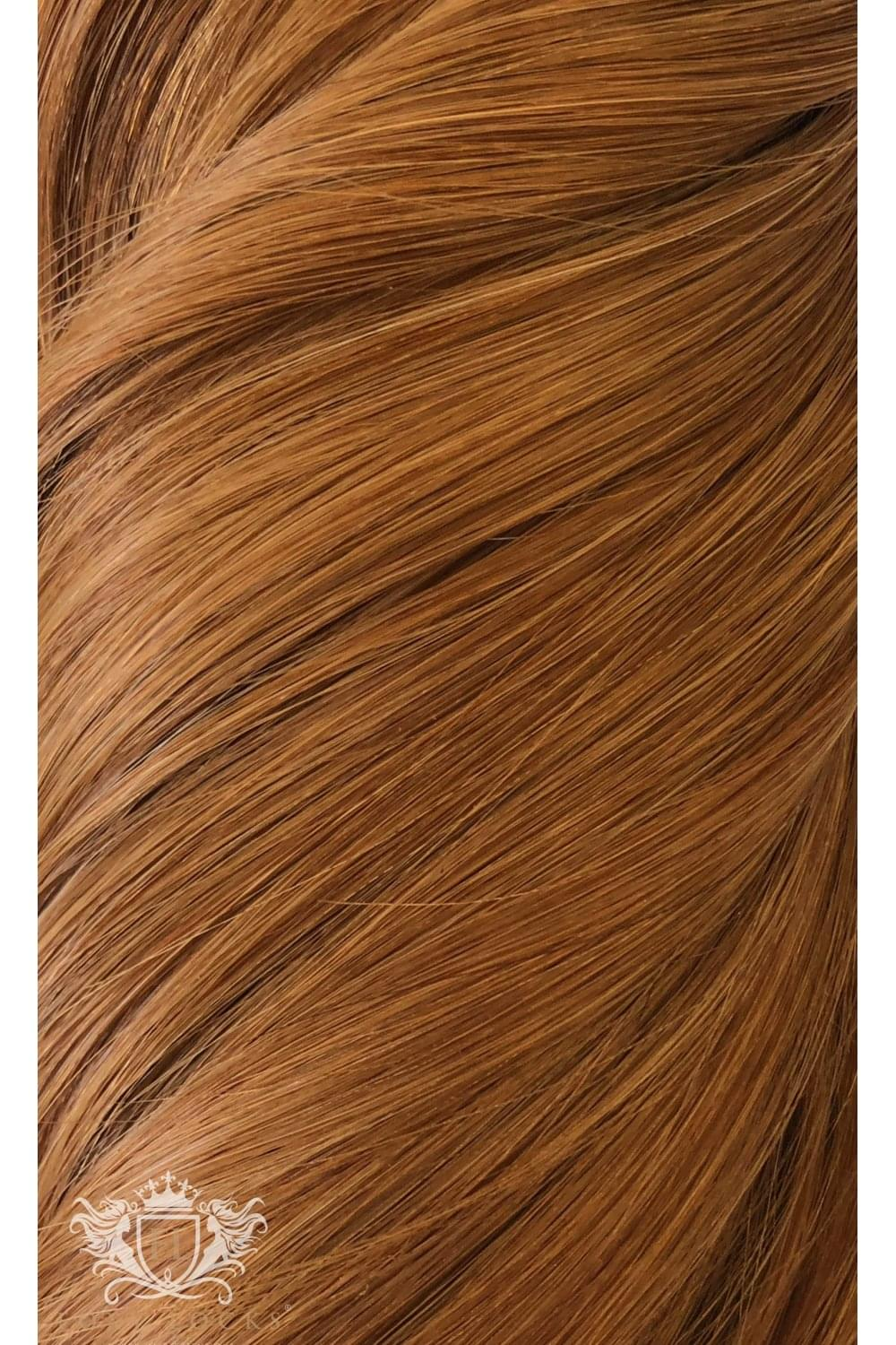 Cinnamon Ginger Deluxe 20 Seamless Clip In Human Hair Extensions