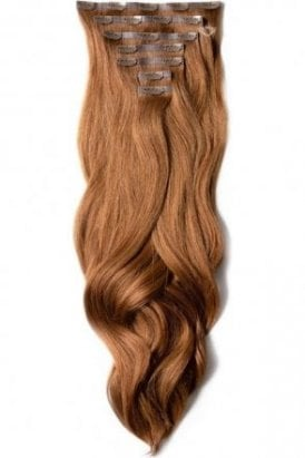 """Cinnamon Ginger- Luxurious 24"""" Seamless Clip In Human Hair Extensions 280g"""