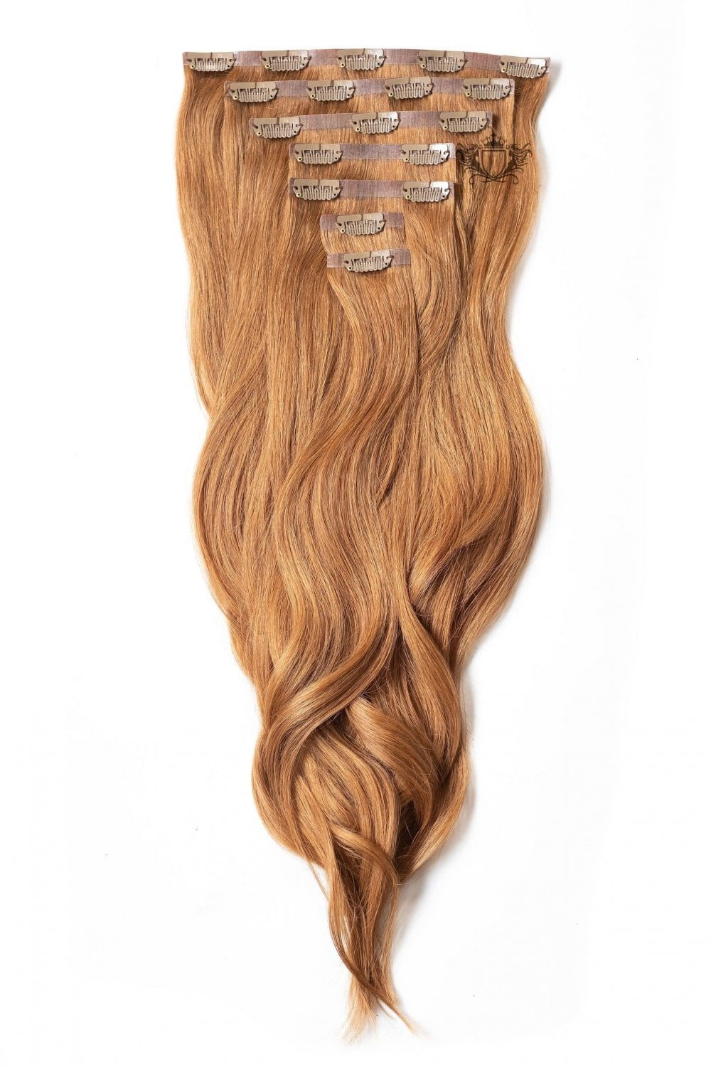 Mahogany Superior Seamless 22 Clip In Human Hair Extensions