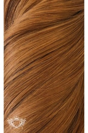 "Cinnamon Ginger - Volumizer 20"" Seamless Clip In Human Hair Extensions 50g"