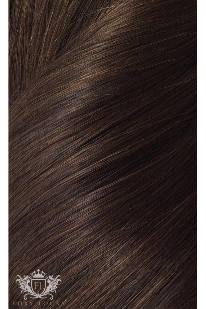 "Cocoa - Deluxe 20"" Seamless Clip In Human Hair Extensions 165g"