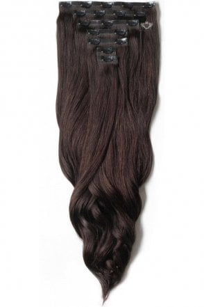 "Cocoa - Luxurious 24"" Seamless Clip In Human Hair Extensions 280g"