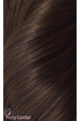 "Cocoa - Regular 18"" Clip In Human Hair Extensions 125g"