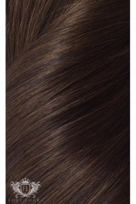 "Cocoa - Regular Seamless 18"" Clip In Human Hair Extensions 125g"