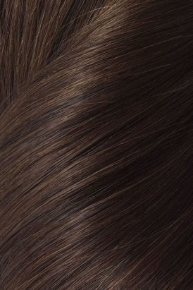"Cocoa - Volumizer 20"" Seamless Clip In Human Hair Extensions 50g"