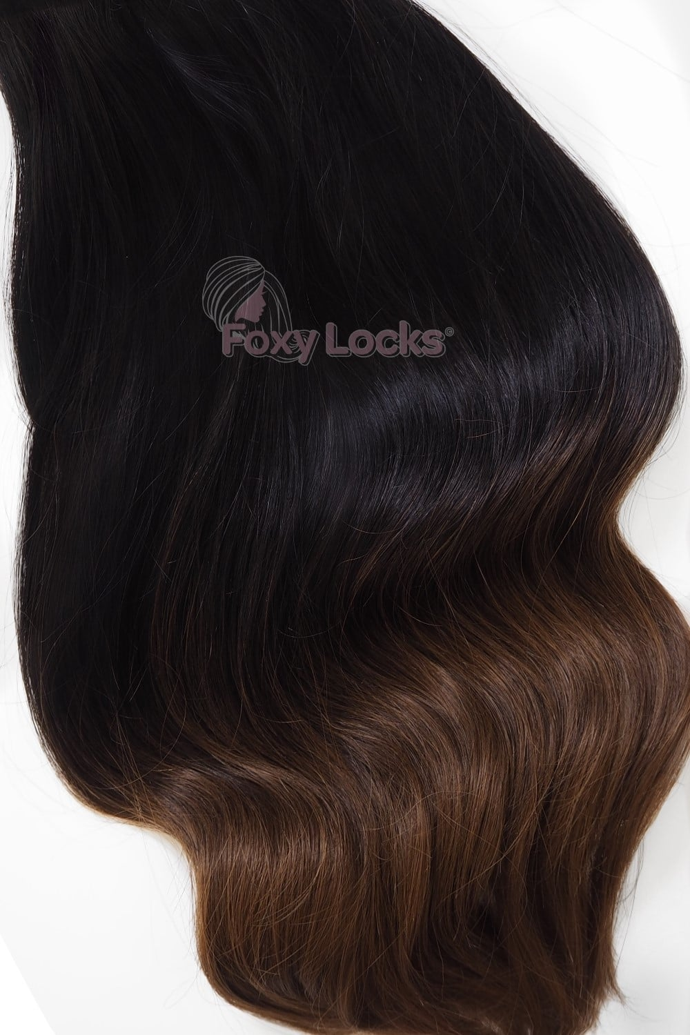 Dark Espresso Ombre Deluxe 20 Clip In Human Hair Extensions 165g