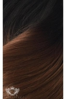 "Dark Espresso Ombre - Luxurious 24"" Seamless Clip In Human Hair Extensions 280g"