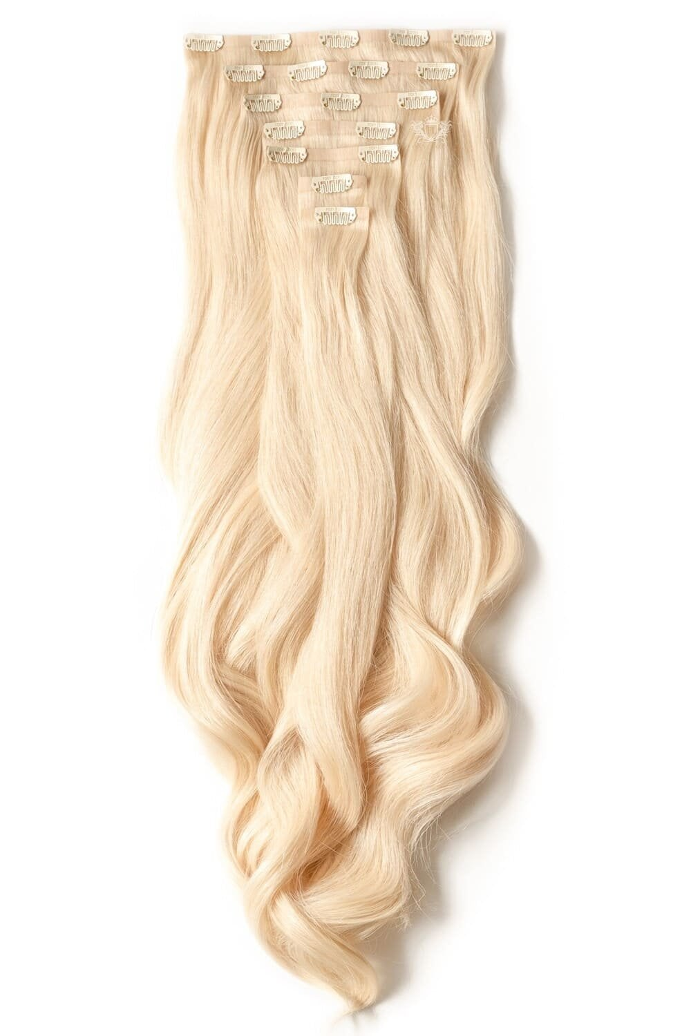 Hollywood Luxurious Seamless 24 Clip In Human Hair Extensions 280g