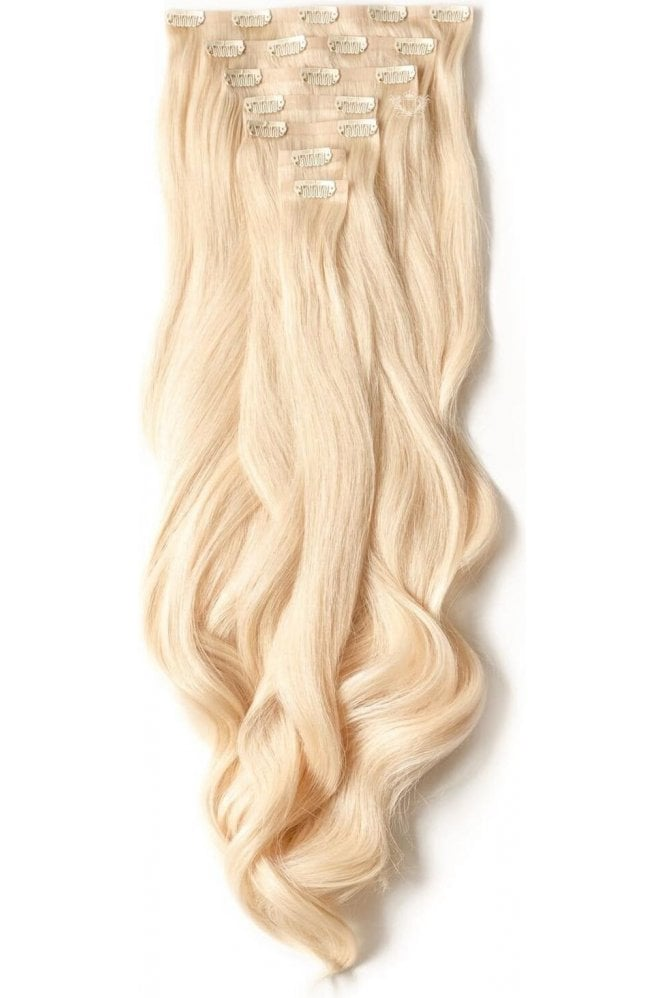 "Hollywood Blonde - Luxurious 24"" Seamless Clip In Human Hair Extensions 280g"