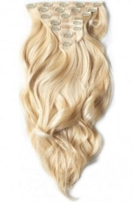 "Hollywood Blonde - Superior 22"" Seamless Clip In Human Hair Extensions 230g"