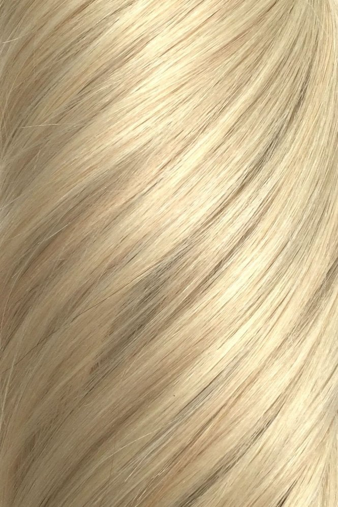 "Hollywood Blonde - Volumizer 20"" Seamless Clip In Human Hair Extensions 50g"