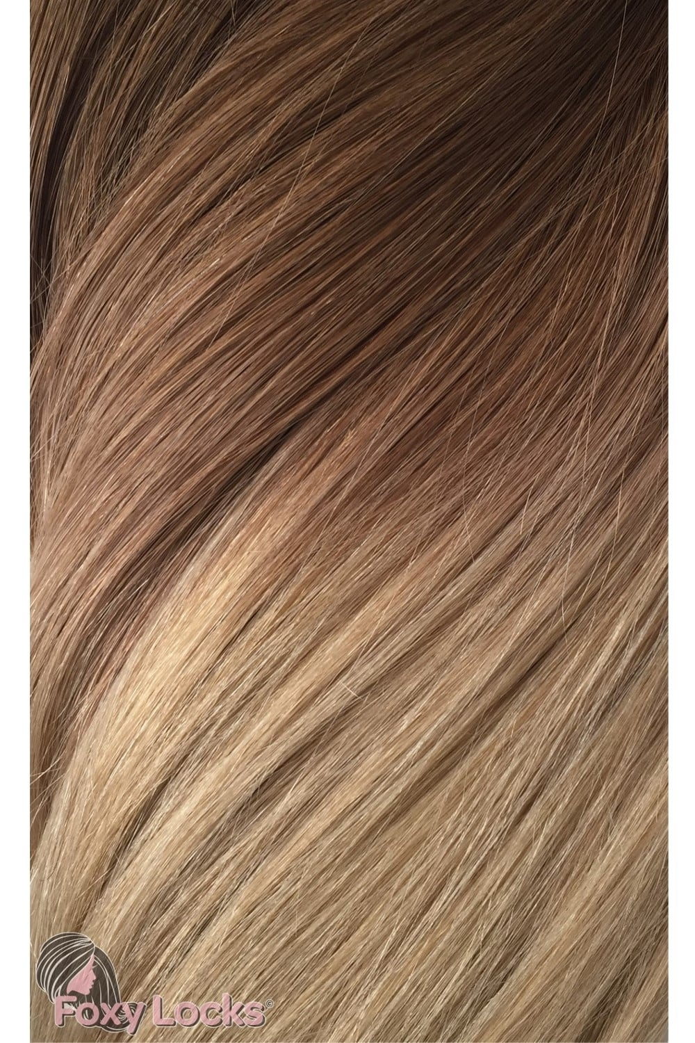 Honey Spice Ombre Deluxe 20 Clip In Human Hair Extensions 165g