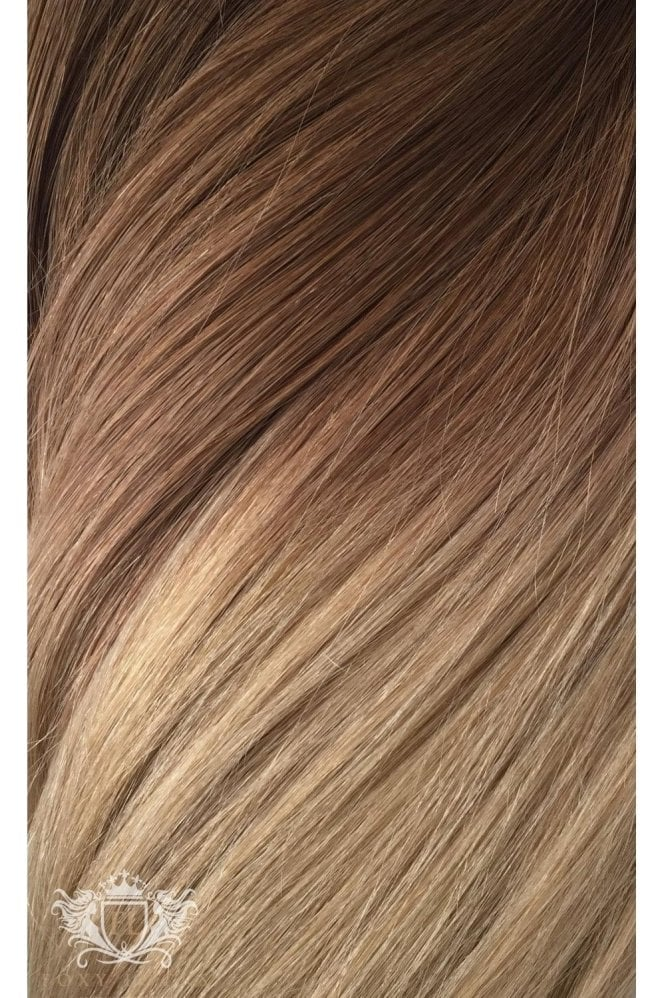 "Honey Spice Ombre - Deluxe 20"" Seamless Clip In Human Hair Extensions 165g"