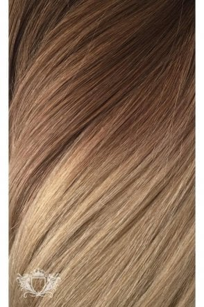 "Honey Spice Ombre - Luxurious 24"" Seamless Clip In Human Hair Extensions 280g"