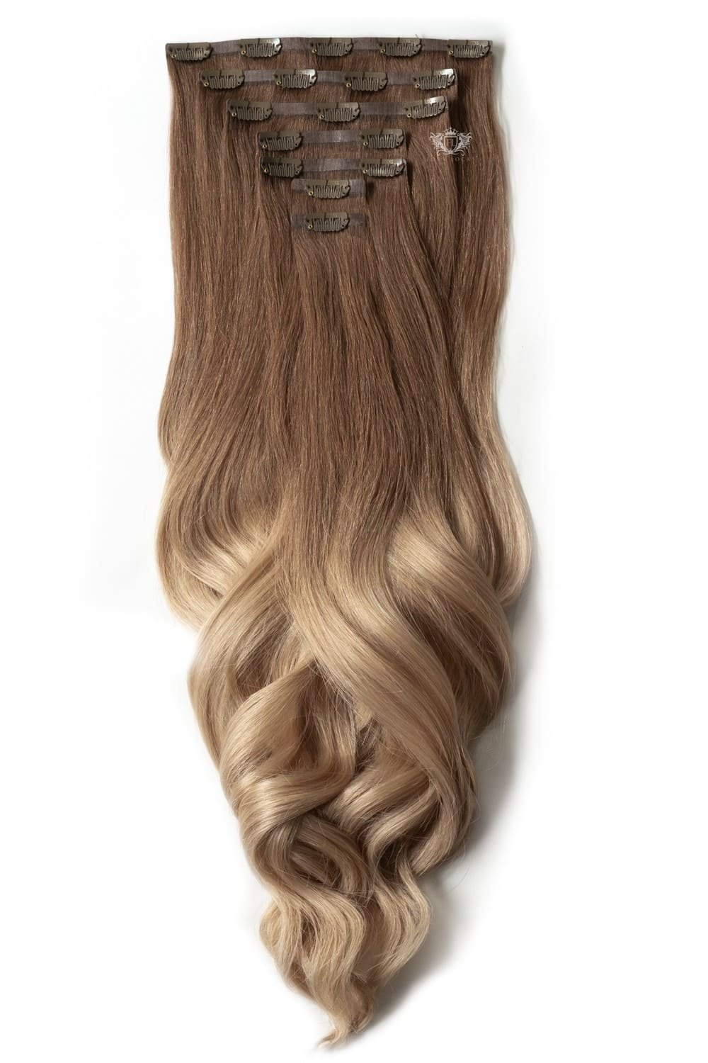 Honey Spice Ombre Luxurious Seamless 24 Clip In Human Hair
