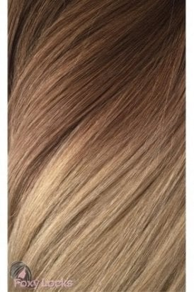 """Honey Spice Ombre - Regular 18"""" Clip In Human Hair Extensions 125g"""