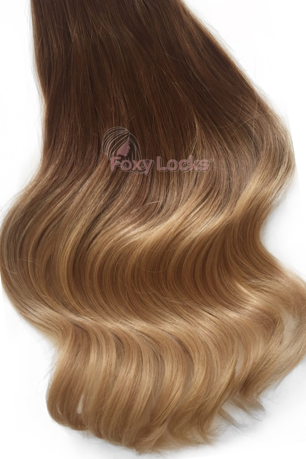 Honey Spice Ombre Regular 18 Clip In Human Hair Extensions 125g
