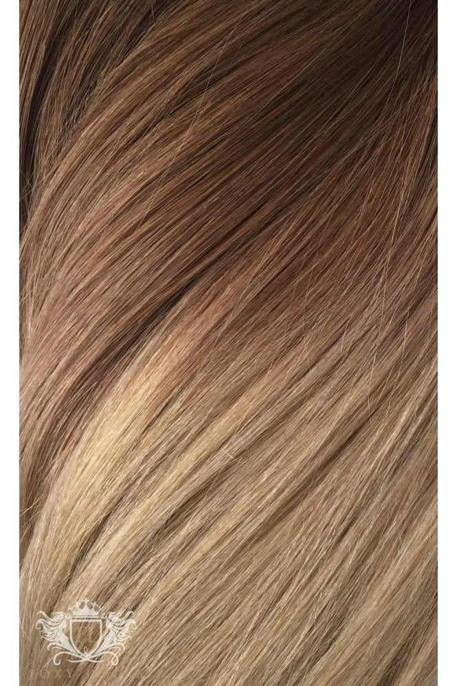 """Honey Spice Ombre - Regular Seamless 18"""" Clip In Human Hair Extensions 125g"""