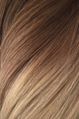 """Honey Spice Ombre - Volumizer 20"""" Seamless Clip In Human Hair Extensions 50g"""