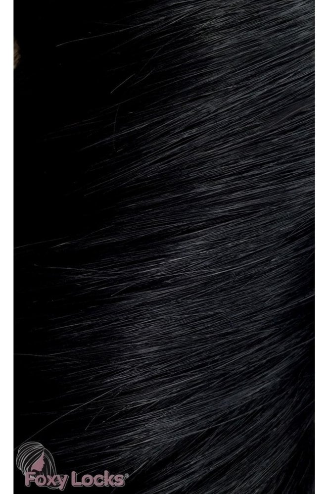 "Jet Black - Deluxe 20"" Clip In Human Hair Extensions 165g"