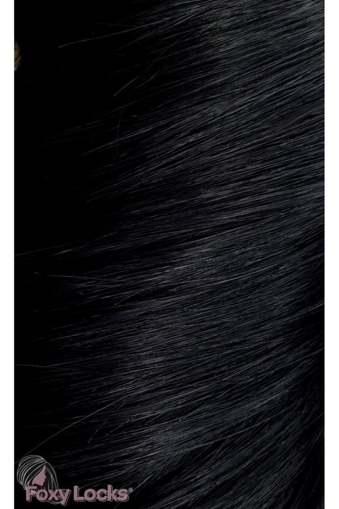 "Jet Black - Luxurious 24"" Clip In Human Hair Extensions 280g"
